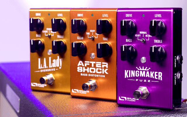Source Audio LA Lady Overdrive Kingmaker Fuzz & Aftershock Bass Distortion