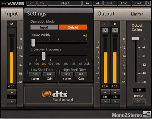 Waves DTS Neural Mono2Stereo