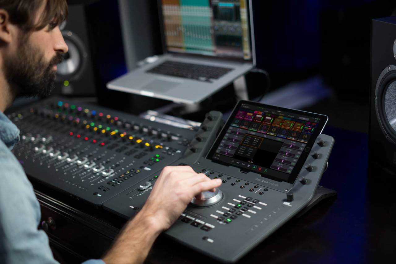 avid pro tools dock control surface launched. Black Bedroom Furniture Sets. Home Design Ideas