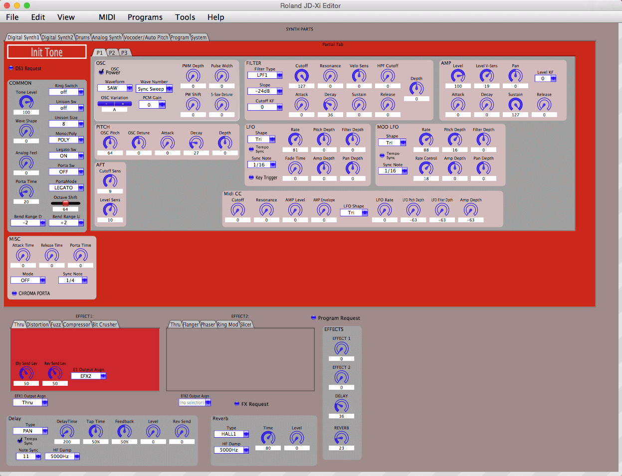 Memory Splice Roland JD-Xi Editor Software