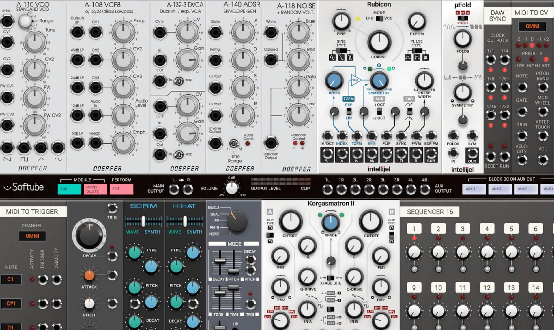 softube modular virtual analog synth plugin released. Black Bedroom Furniture Sets. Home Design Ideas