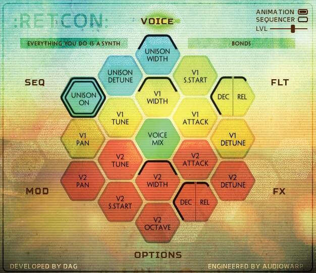 Kontakt Hub AudioWarp Retcon screen