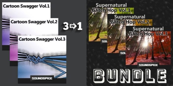 SoundSpice Cartoon Swagger & SuperNatural Glitch Hop Bundles