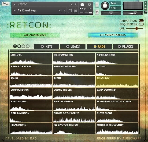AudioWarp Retcon patches