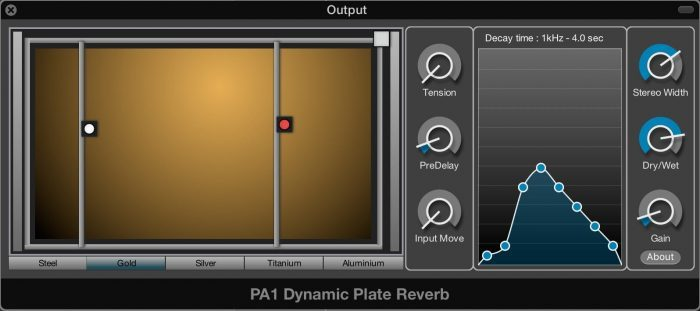 Physical Audio PA1 Dynamic Plate Reverb
