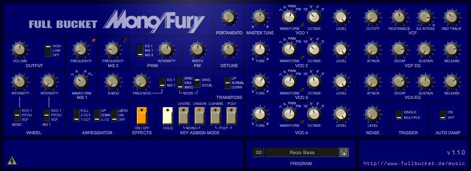 Full Bucket Music Mono/Fury