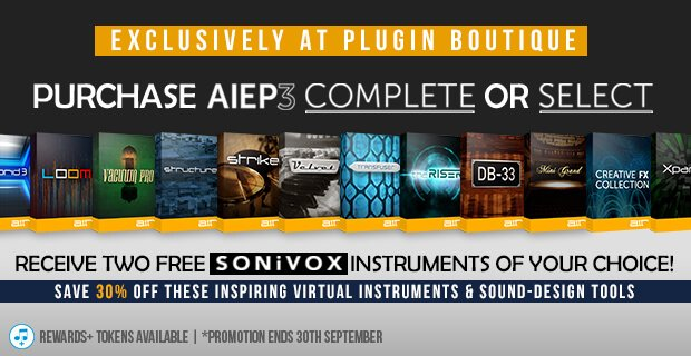 Plugin Boutique AIEP3 Promo 30