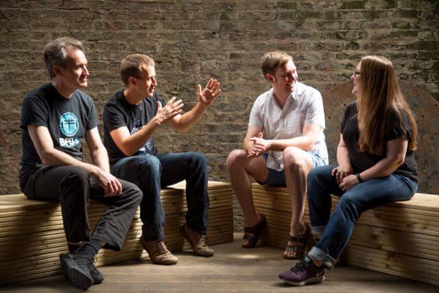 Skot McDonald, Angus Hewlett, Roland Lamb and Rhiannon Bankston-Thomas