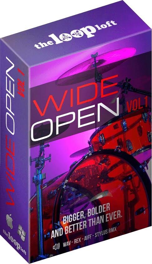 wide open drums volume 1 at the loop loft. Black Bedroom Furniture Sets. Home Design Ideas