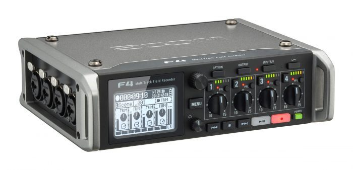 Zoom F4 multitrack field recorder angle 2