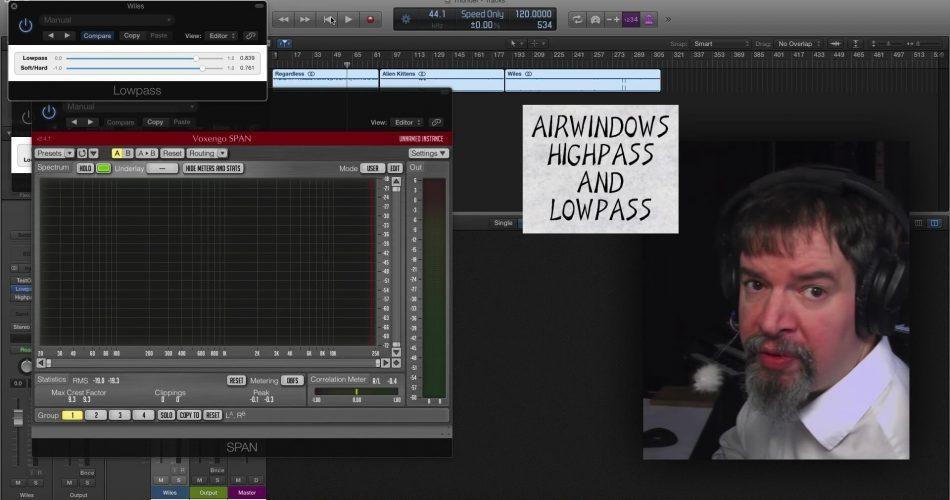 Airwindows Lowpass Highpass