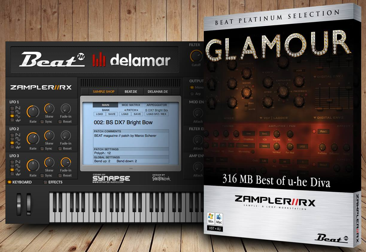 Beat magazin glamour for zampler 20 free sounds from diva - U he diva ...