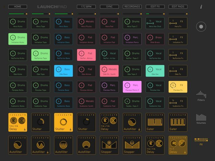 Novation Blocs Launchpad app 4 iPad screen 2