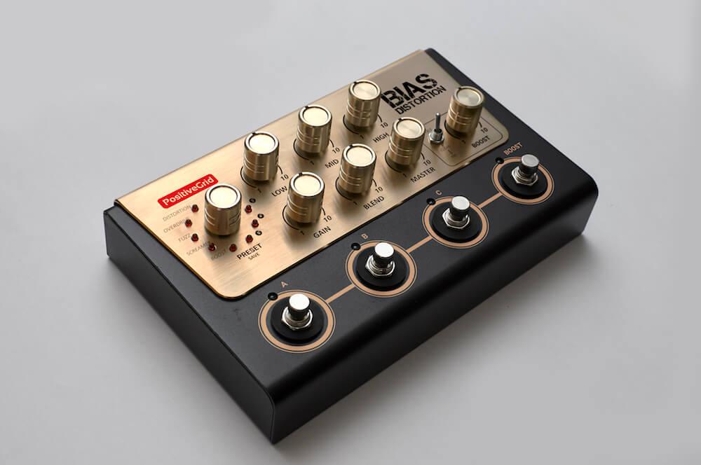 positive grid bias distortion pedal available for pre order. Black Bedroom Furniture Sets. Home Design Ideas
