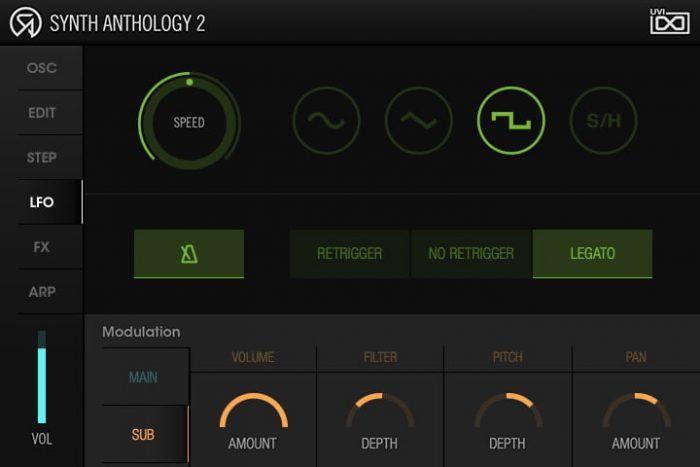 UVI Synth Anthology 2 lfo