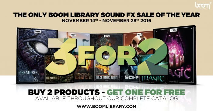 BOOM Library Black November Sale