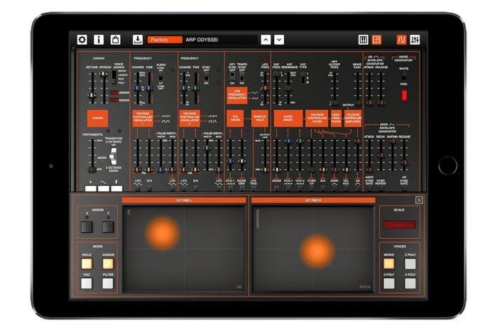Korg ARP ODYSSEi iPad xy