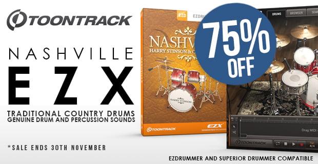 75% off ToonTrack Nashville EZX