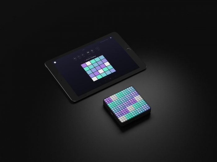 ROLI Lightpad Block and NOISE on iPad
