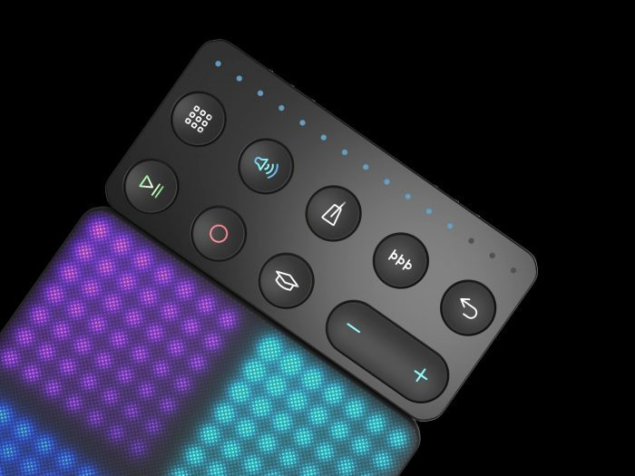ROLI Lightpad Block connected to Loop Block