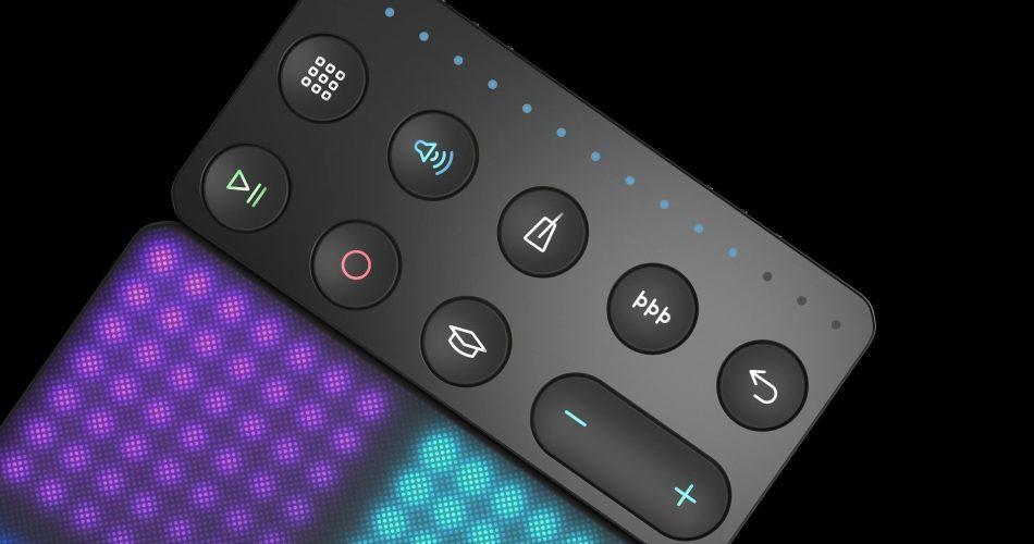 ROLI Lightpad Block connected to Loop Block