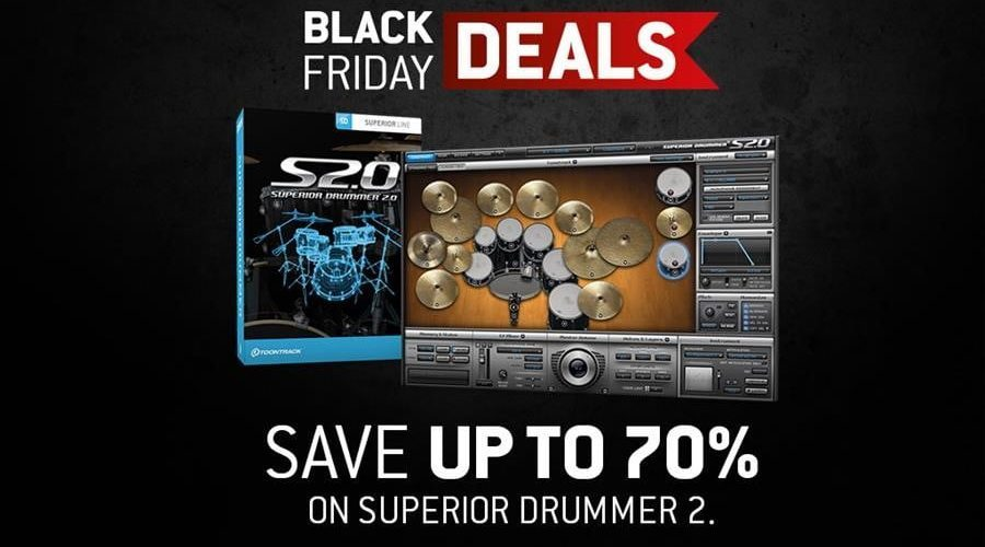 Toontrack Black Friday Superior Drummer 2