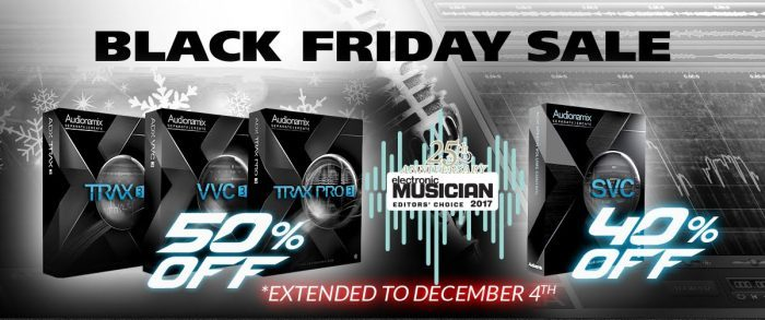 audionamix black friday sale extended