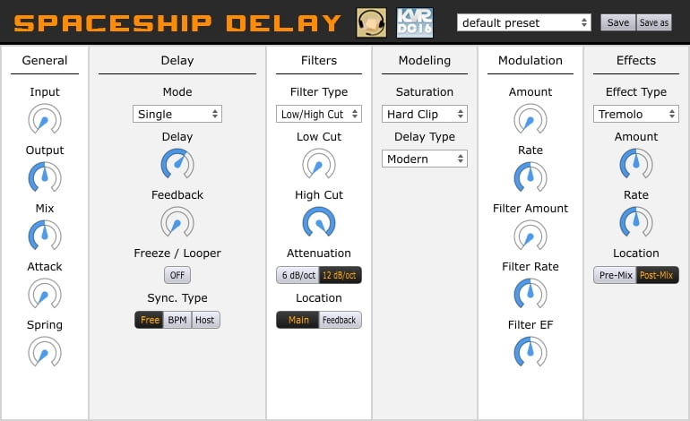 Musical Entropy Spaceship Delay