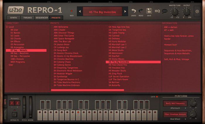 u-he Repro-1 v1 presets