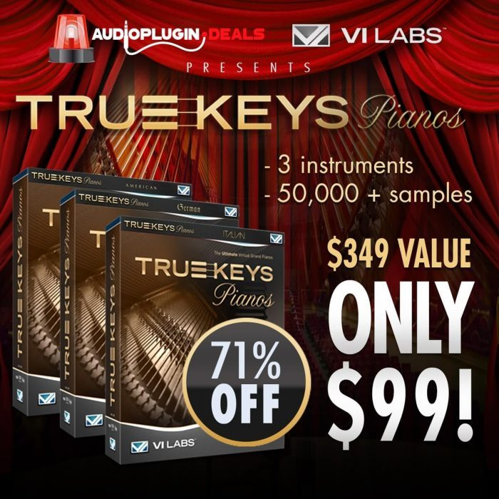 Audio Plugin Deals True Keys Pianos