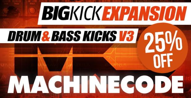 BigKick Expansion Drum & Bass Kicks V3 with MachineCode sale