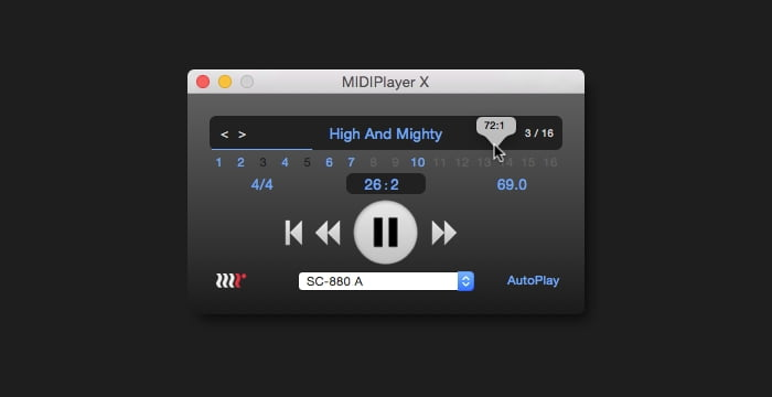 MethodRed MIDIPlayer X v2.2