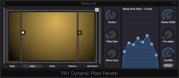 Physical Audio PA1 Dynamic Plate Reverb update