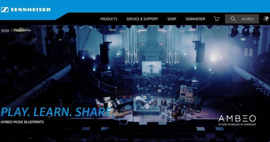 Sennheiser AMBEO Music Blueprints