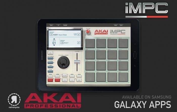 Akai Pro iMPC Samsung Galaxy tablet
