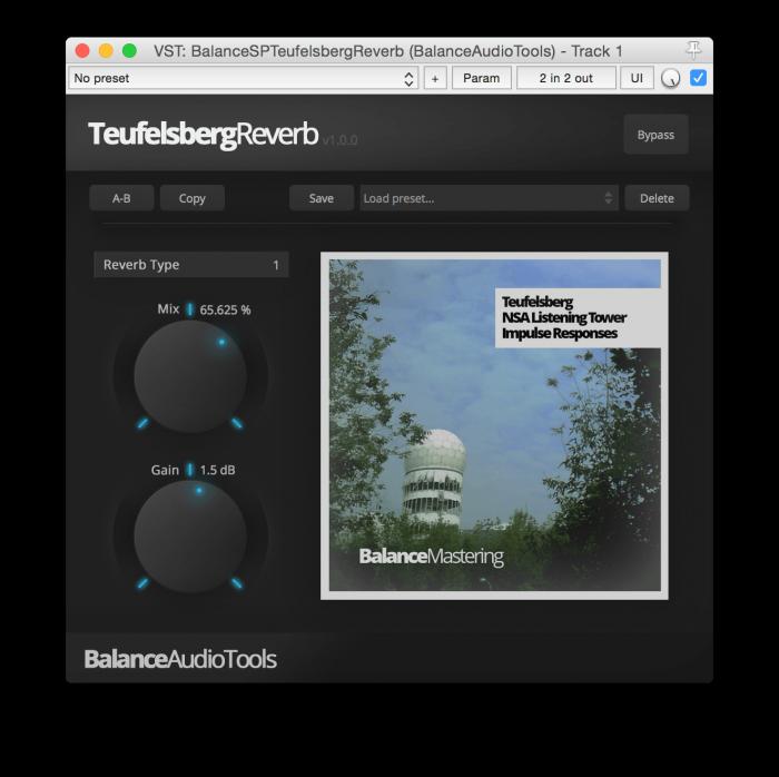 Balance Audio Tools Teufelsberg Reverb plugin