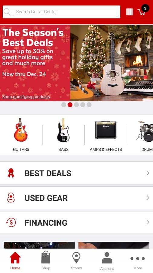Guitar Center mobile app