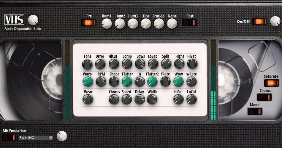 James Peck VHS Tape Noise and Flutter Simulator