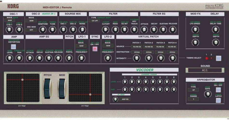 Momo MicroKorg Midi Editor