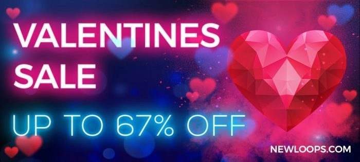 New Loops Valentines Banner