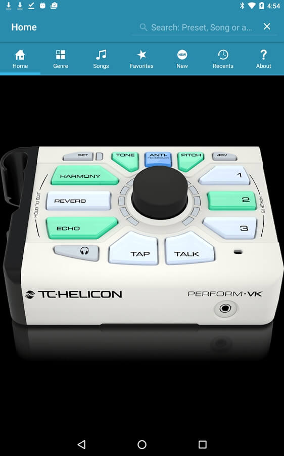 TC Helicon Perform VK app