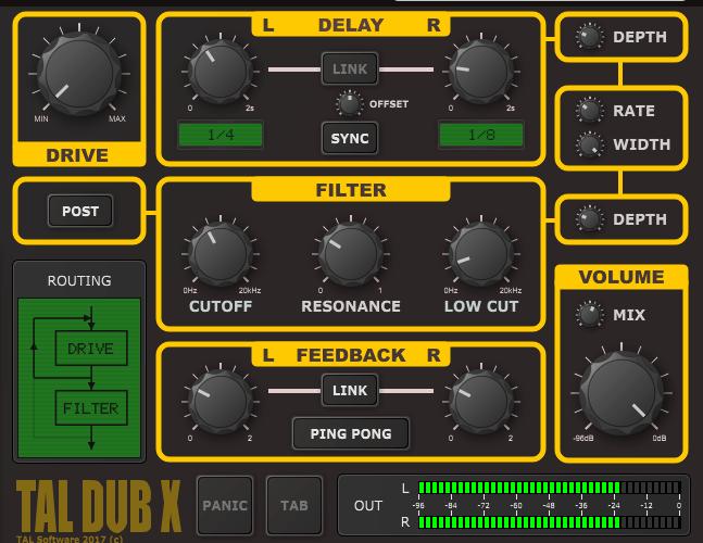 Togu Audio Line TAL Dub X