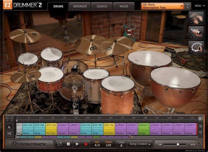 Toontrack Alt Rock EZX screen