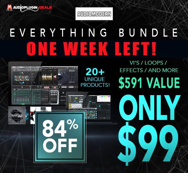 Audio Plugin Deals Audiomodern Everything Bundle week