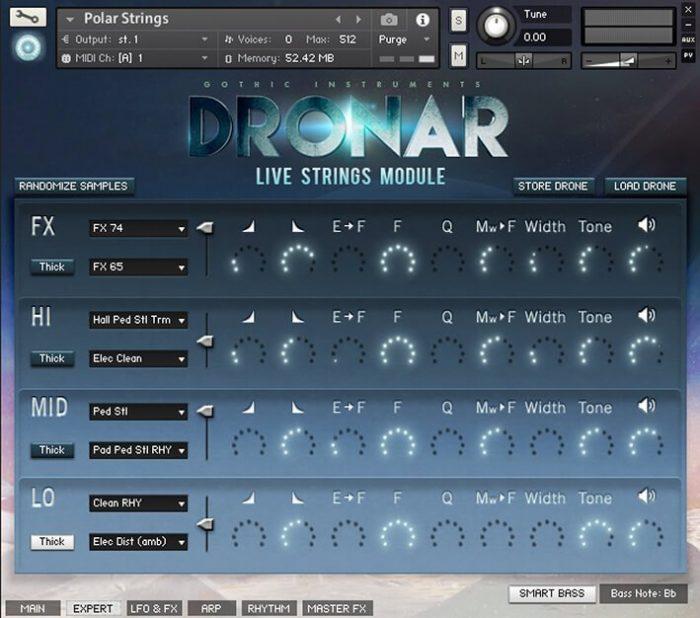DRONAR Live Strings Expert