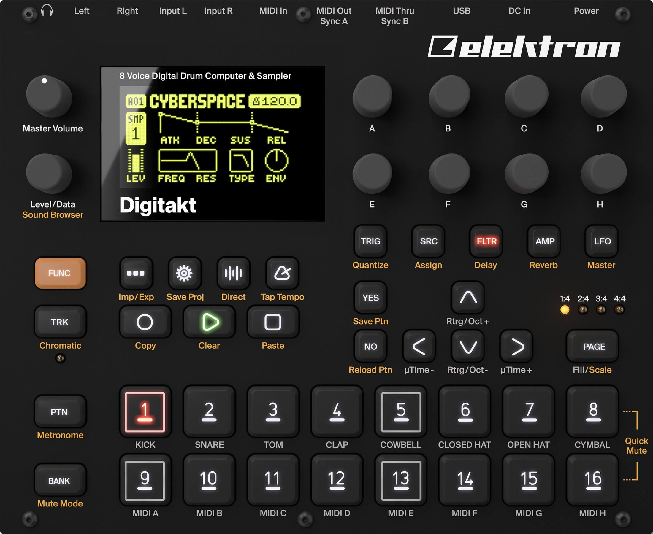 elektron digitakt drum machine sampler now available. Black Bedroom Furniture Sets. Home Design Ideas
