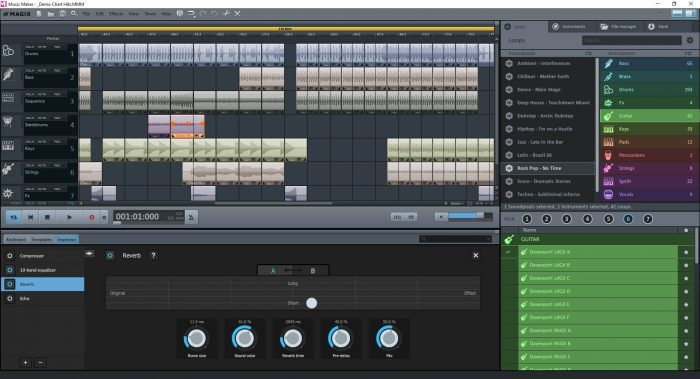 MusicMaker FreeVersion GUI Overview EN