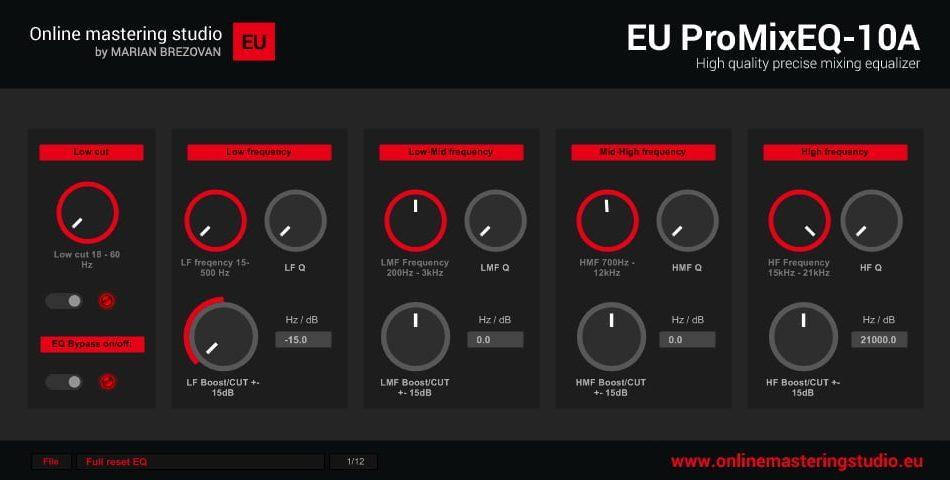 Onlinemasteringstudio EU ProMixEQ 10A