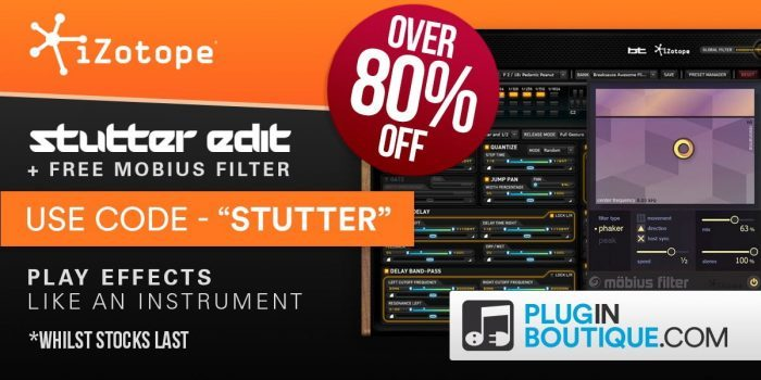 PIB iZotope Stutter Edit deal 80