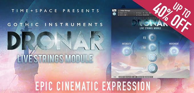 Time+Space DRONAR Live Strings Module